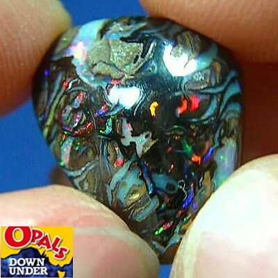 Stunning Reds * 11ct Natural Australian Solid Koroit Boulder Opal * See Video