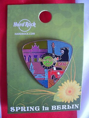 HRC Hard Rock Cafe Berlin Spring In 2016 Large Guitar Pick Pin LE300