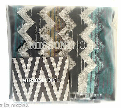 """MISSONI HOME TWO FINGERTIP HAND TOWELS SET PAUL 170 11.8"""" x11.8"""" BRANDED PACKAGE"""
