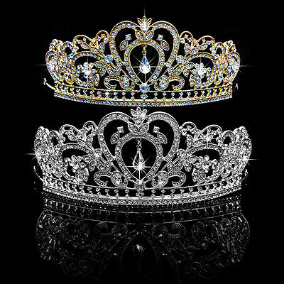 Wedding Bridal Princess Rhinestone Tiara Crown Headband Women Hair Accessories