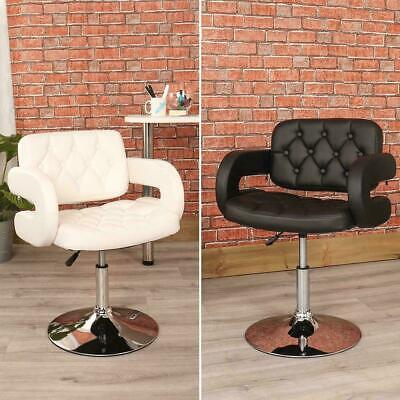 Wido BLACK / WHITE QUILTED LEATHER STYLE BARBER CHAIR BEAUTY HAIRDRESSER SALON