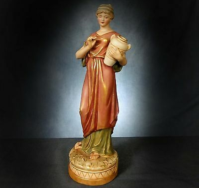 STUNNING, LARGE, ROYAL DUX FIGURINE of a NEO-CLASSICAL POTTER?