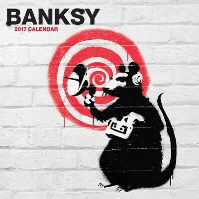 Banksy Official 2017 Wall Calendar Square New and Sealed
