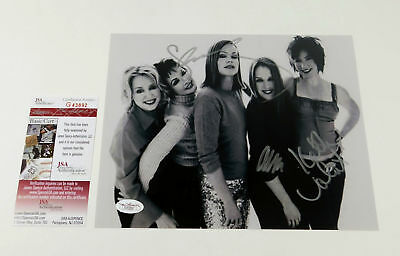 The Go-Go's Multi-Signed 8 x 10 B & W Photo Rock Band JSA Autos
