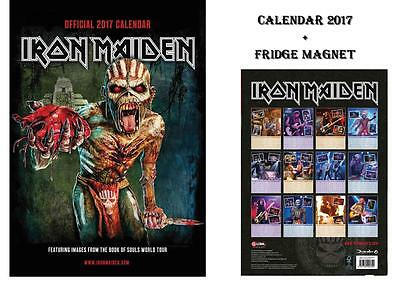 Iron Maiden Official Calendar 2017 + Iron Maiden Fridge Magnet