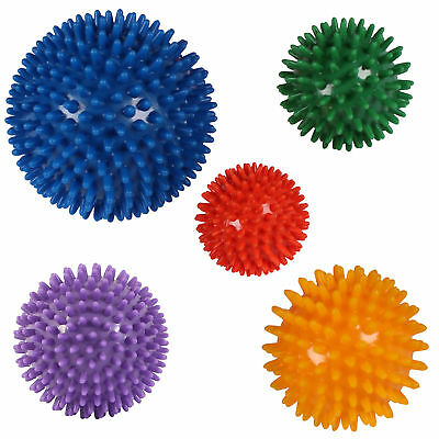 Massageball Noppenball Igelball Massagebälle Wutball Stressball 5 er Set