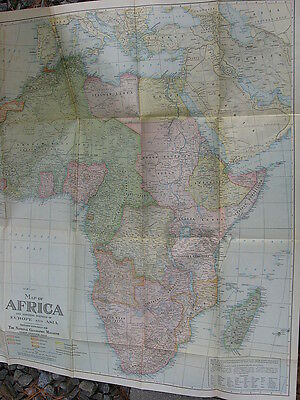 "Vintage 1922 Africa National Geographic Map (27 x 31"")"