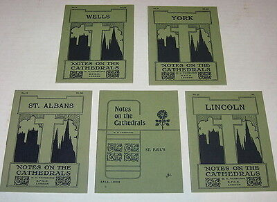Vintage 1920's London Cathedrals Info Booklets Lot (5) - Notes on the Cathedrals