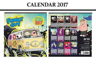 Family Guy Official Calendar 2017 + Family Guy Fridge Magnet
