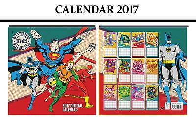 Dc Comics Official Calendar 2017 + Marvel Fridge Magnet