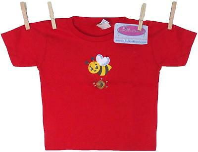 Bee T-Shirt Red 2T Short Sleeve Toddler Child Buzzing Bumble Bees Hive Monogram