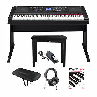 Yamaha DGX-660 Piano with Knox Bench, Headphones ,Pedal , Dust Cover & Book