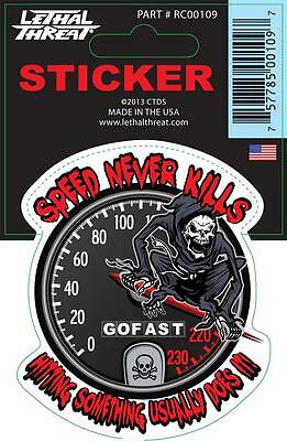LETHAL THREAT Motorcycle Scooter Bike Board Decal Helmet Mini Sticker RC00109