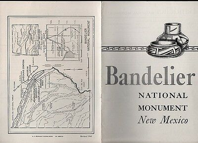 Vintage 1949 New Mexico Travel Brochure - Bandelier National Monument