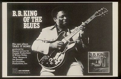 1979 BB B.B. King photo Take It Home album release vintage print ad