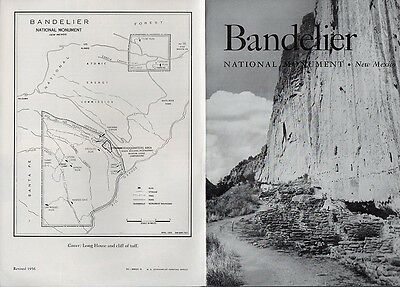 Vintage 1956 New Mexico Travel Brochure - Bandelier National Monument