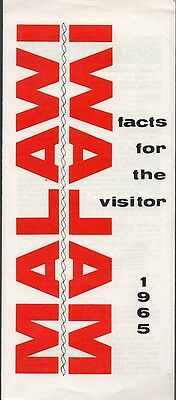 Vintage 1965 Africa Travel Brochure - Malawi Facts For the Visitor
