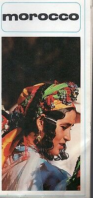 Vintage 1960s Morocco Travel Brochure/Map