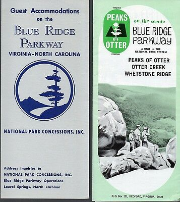 Vintage c.1960's Virginia Travel Brochures Lot (2) - Blue Ridge Parkway