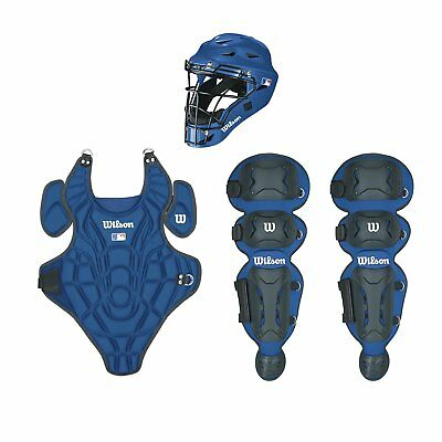 Wilson Youth EZ Gear Catcher's Kit, Royal Blue, Large/X-Large