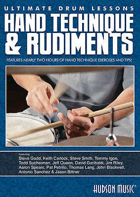 Hand Technique & Rudiments Ultimate Drum Lessons Hudson Play Music Video DVD NEW