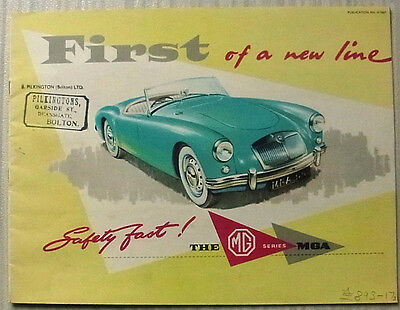 MG MGA OPEN TWO SEATER & FIXED HEAD COUPE Sales Brochure Sept 1956 #H5667