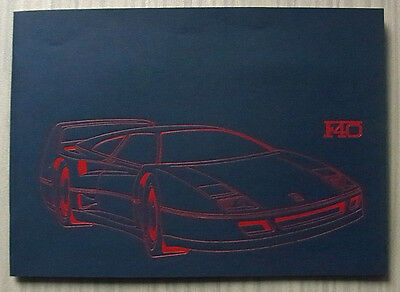 FERRARI F40 Car Press Media Pack Brochure Photos 1987 #477/87 ENGLISH TEXT