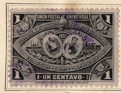 Guatemala 1897 Early Issue Fine Used 1c. 094317