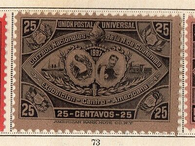 Guatemala 1897 Early Issue Fine Mint Hinged 25c. 094903