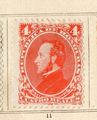 Guatemala 1878 Early Issue Fine Mint Hinged 4r. 094915