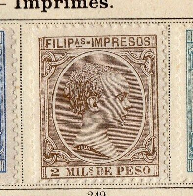 Philippines 1896 Early Issue Fine Mint Hinged 2P. 094957