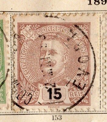 Portugal 1895 Early Issue Fine Used 15r. 095024