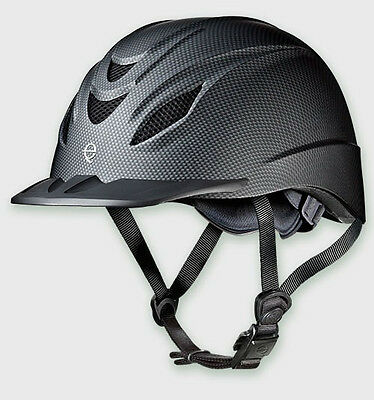 Troxel Intrepid Carbon Black Western Riding Duratec Safety Low Profile Helmet Sm