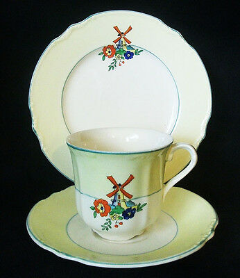 J & G Meakin Windmill Trio, Cup, Saucer & Plate