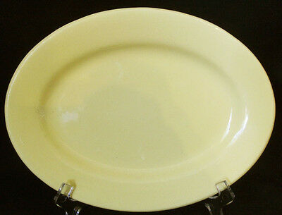 6 x J & G Meakin Pastel Yellow Small Oval Dessert Plate