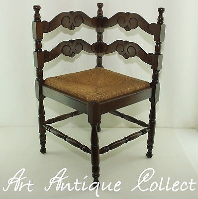Corner Chair old chair Reed Wood Antique Sitter Antique Corner chair