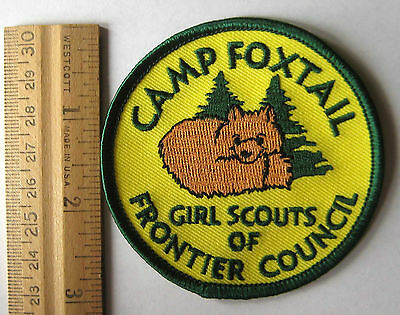 Girl Scout CAMP FOXTAIL PATCH Badge Frontier Council Nevada Adorable Fox NEW