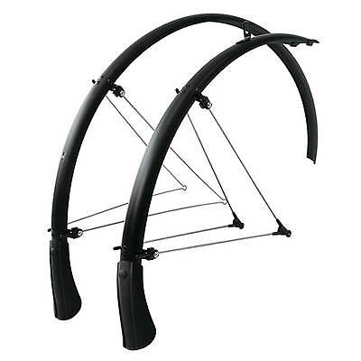 SKS Bluemels Front and Rear Bike/Cycle Mudguard Set - Black