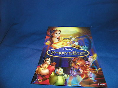 Disney 3-D Lenticular Collector Card Beauty & the Beast