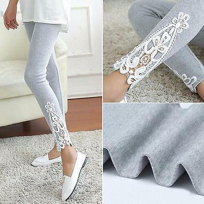Fashion Women Lace Skinny High Waist Leggings Stretchy Pencil Pants
