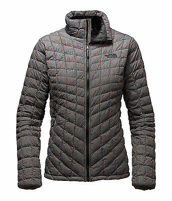 The North Face Women's THERMOBALL Insulated Stowable Jacket Black Multi Colour M