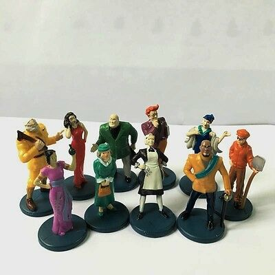 10pcs 2002 Clue Game Suspects pieces Tokens Movers Characters Figures Parts M779