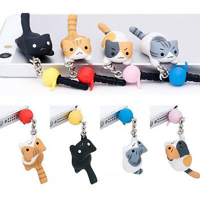 Cute New Dog Universal Dust Plug Cap Mobile Tablet Charm Puppy Pugs Case 3.5mm