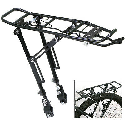Heavy Duty Alloy Bike Bicycle Rear Pannier Rack Adjustable Luggage Rack Max 25Kg
