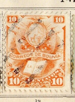 Bolivia 1879 Early Issue Fine Used 10Kr. 095228
