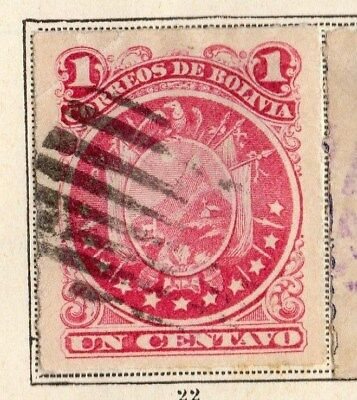 Bolivia 1887 Early Issue Fine Used 1c. 095231