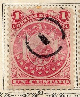 Bolivia 1891 Early Issue Fine Used 1c. 095236