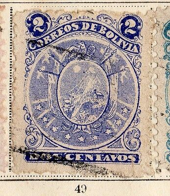 Bolivia 1893 Early Issue Fine Used 2c. 095242