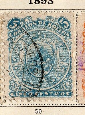 Bolivia 1893 Early Issue Fine Used 5c. 095243