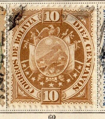 Bolivia 1894 Early Issue Fine Used 10c. 095250